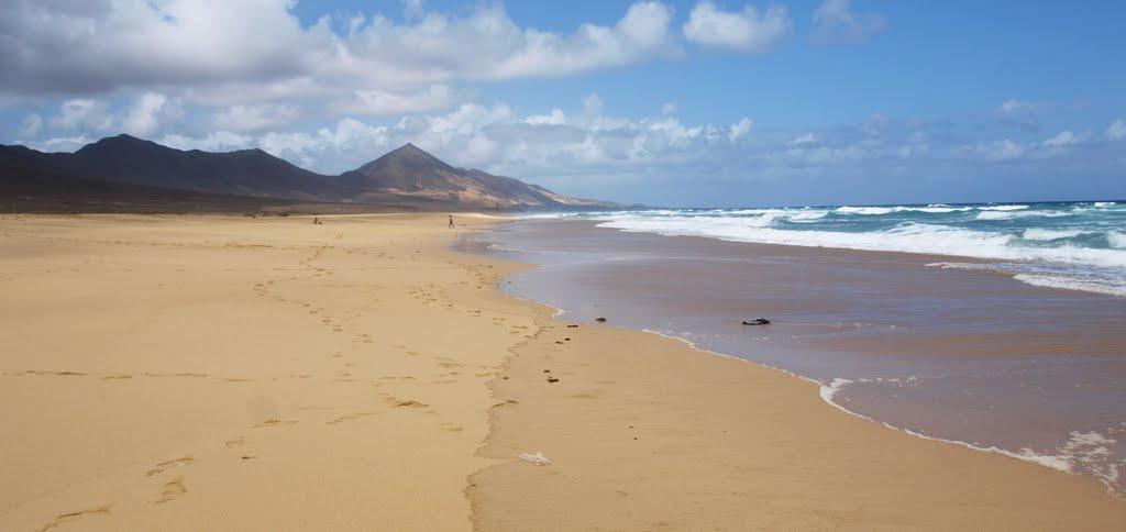 Playa cofete fuerteventura en canarias | Foto Premium